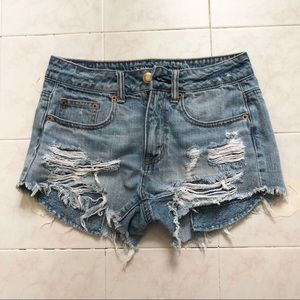 American eagle outfitters jean hi festival shorts